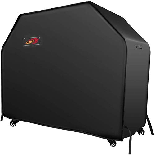 VicTsing BBQ Cover, Heavy Duty Waterproof Gas Grill Cover with Handles and Straps Fits Weber, nexgrill, Royal Gourmet,Kenmore,Broil King, Char Broil 3-4 Burner Barbecue Grill (600D, 58