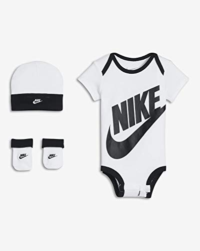 Nike Jumpman Baby-Set, 3-teilig, 0-6 Monate, Weiß/Schwarz