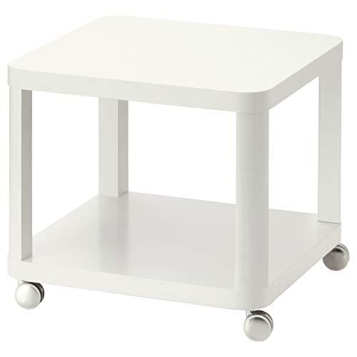 My- Stylo Collection - Tavolino da appoggio su ruote, bianco, dimensioni del prodotto: lunghezza: 50 cm, larghezza: 50 cm, altezza: 45 cm