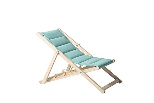 Garten-Sonnenliege für Kinder, Relaxliege, Holzliegestuhl, Klappliegestuhl, Strandliegestuhl, Entspannungsstuhl, wasserdichte, solide Struktur, hergestellt in der EU (Minze)