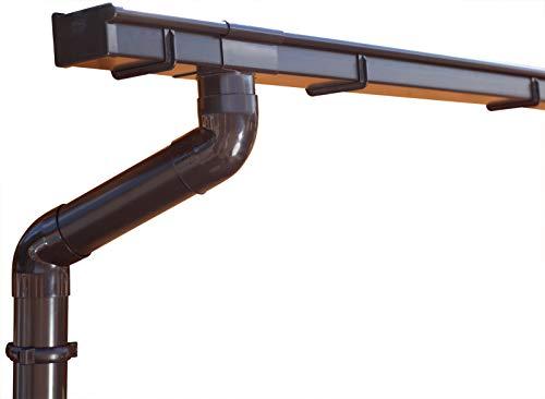 Dachrinnen/Regenrinnen Set | Pultdach (1 Dachseite) | Kastenrinnen | Kastendachrinnen | BG70 | in braun! (Komplettes Set bis 5.25 m)