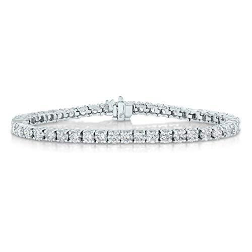 2 cttw Classic Tennis Diamond Bracelet 14K White Gold 7 Inches I-J Color