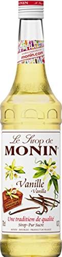 MONIN Sirop de Vanille pour Café, Cappuccino, Latte et Chocolat Chaud - Arômes Naturels - 70cl