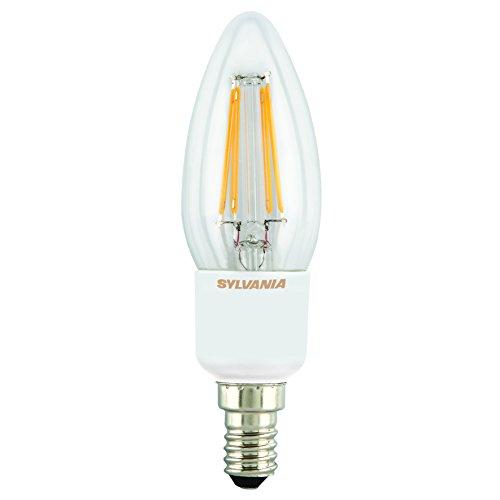 Sylvania Toledo 0027292 Rétro Compatible avec variateur d'intensité Bougie Lampe LED, verre, Home clair, E14, 4,5 watts