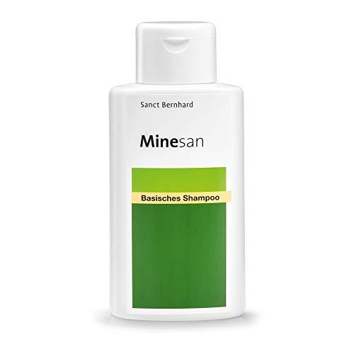 Sanct Bernhard Minesan Basisches Shampoo mit basischen pH-Wert, Hamamelis-, Kamillen- und Melissenextrakt, Kräuterduft, Inhalt 250ml