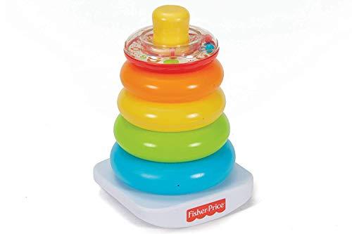 Fisher Price- Piramide 5 Anelli, Giocattolo Impilabile per Bambini 6+ Mesi, FHC92