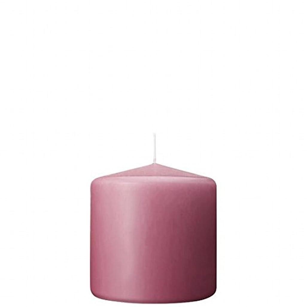 主人音デモンストレーションカメヤマキャンドル(kameyama candle) 3×3ベルトップピラーキャンドル 「 ラベンダークリーム 」