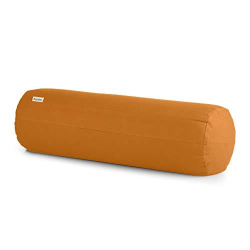 basaho Bolster Yoga | Algodón Orgánico (Certificación Gots) | Cáscara de Trigo Sarraceno | Funda Extraíble Lavable (Mango)