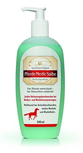 Original Pferde Medic Salbe Entspannt Belastungsbeschwerden bei Rücken- und Muskelverspannungen. Für Pferde entwickelt - für Menschen entdeckt.Spar-Set 2x500ml.