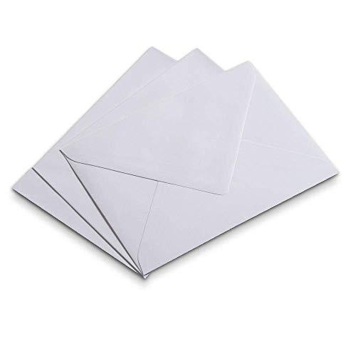 50 Briefhüllen, 125 x 176 mm, DIN B6, Superweiss, halbglattes Papier, Verschluss nassklebend
