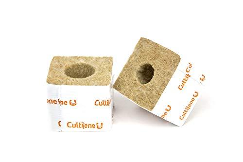 Kulturblock 75 x 75 x 65mm Steinwolle Stecklinge Aufzucht Vorzucht (10 Stück)