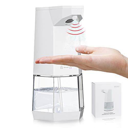 Jeteven Dispensador de desinfección automático, dispensador de Spray sin Contacto con Sensor, eléctrico pulverizador con Sensor de Limpieza de Manos, para Escuela Restaurante Oficina hogar (360ml)