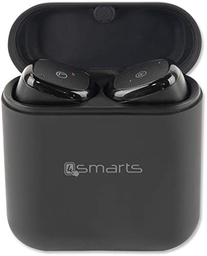 4smarts 'True Wireless' Stereo Headset Eara TWS Buttons, Schwarz