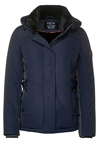 Cecil Damen Winterjacke mit Materialmix deep Blue L