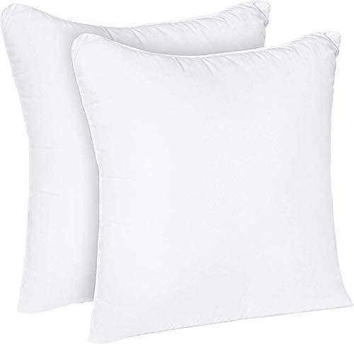 GDN ||Set di 2 Cuscini - 45x45 cm Imbottitura per Cuscini - Tessuto Misto Cotone Cuscini Letto Divano - Cuscino Interno col. Bianco