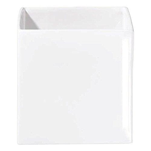 ASA Quadro Übertopf, Keramik, weiß, 18x18x18 cm