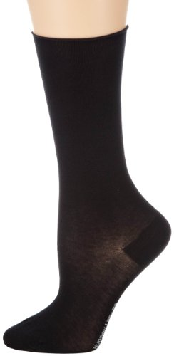 Hudson Damen Relax Cotton Light Socken, Blickdicht, Schwarz (Black 0005), 39-42