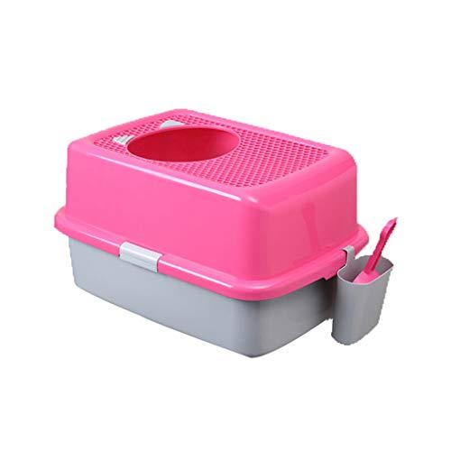 Jlxl Kattenbak Grote Semi WC Huisdier Hond Voor Gesloten nest Health Box Met Schop Automatisch, B
