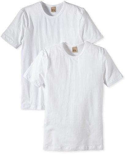 Camel Active Bodywear CA20 2-Pack T-Shirt 400492 Herren Shirts/ T-Shirts, Gr. (S), Weiß (White )