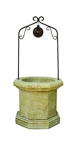 Catart - Pozzo di legno decorativo per giardino, in cemento-pietra, 90 x 90 x 202 cm