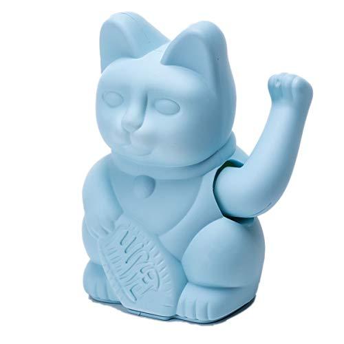 Pureday Figura Decorativa Winkekatze-Gatto Fortunato Giapponese-plastica-Altezza Circa 16 cm - Blu