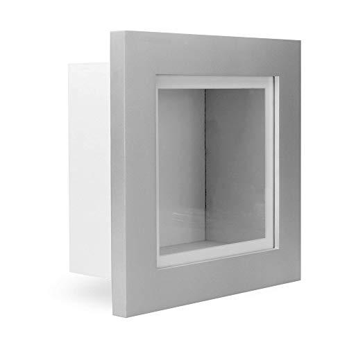 "3D Box Frame | 3.75"" Deep Display Box | Keepsake Frames | Memorabilia Shadow Box | Home Accessories | M&W (Silver, 8x8)"