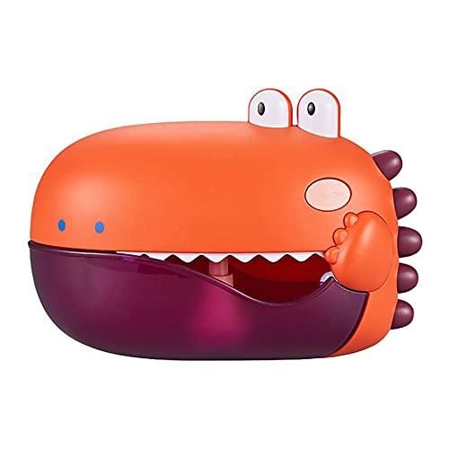Bañera eléctrica Máquina de burbujas de juguete, burbujas automáticas Sopladores, con ventosas de vacío, diseño de animales de dibujos animados lindo, para niños pequeños Niñas Niñas Uso de actividad