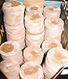100 St. Jiffy ® von highstreethydro Original-Quell-Tabletten Torf-Quelltöpfe Aussaaterde Anzuchterde Torftablette mit Anleitung / Frisch aus der Fabrik / einfach wunderbar