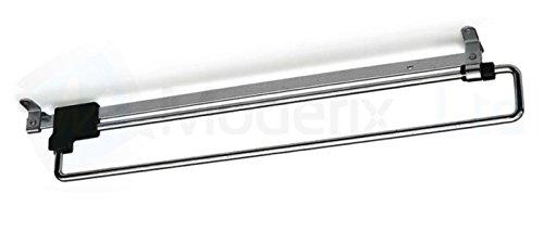 GTV Garderobenauszug Kleiderbügel Kabelsortierer Schiene aus Metall, 500 mm