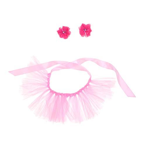 POPETPOP Disfraz de Bailarina de Perro tut-Perro Cachorro Gato Princesa tut Vestido con Sombreros Faldas de Fiesta de Halloween Ropa Disfraz-Rosa