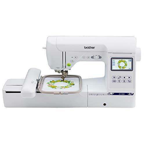 Brother SE1900 Sewing and Embroidery Machine, 138 Designs, 240 Built-in Stitches, Computerized, 5' x 7' Hoop Area, 3.2' LCD Touchscreen Display, 8 Included Feet