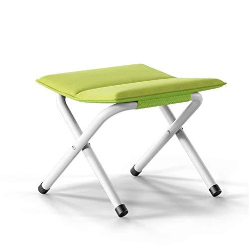 SJB voetenbankje, inklapbaar, draagbaar, opvouwbaar, van lichtgewicht aluminium, voor vissen, stoffen zitting, met kussens, verkrijgbaar in groen voor jacht, vissen, wandelen, kamperen