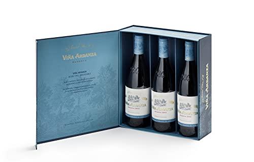 Viña Ardanza - Vino Tinto Reserva D.O.C Rioja Alta Variedad Tempranillo y Garnacha | Añada 2015 | Pack Estuche 3 Botellas de 75cl