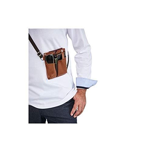 Générique Holster Terols cuir de vachette 16 x 13,5 x 0,6 cm bandoulière coton réglable