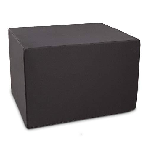 maxVitalis Orthopädischer Bandscheibenwürfel, Stufenlagerungswürfel zur orthopädischen Stufenlagerung, Stufenbett mit Bezug, Bandscheibentlastungswürfel, Schaumstoff, 40 x 50 x 60 cm (schwarz)
