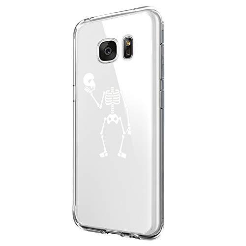 Hülle für Samsung Galaxy S7 Hülle,Crystal Hülle Transparent Schutzhülle Weiche Silikon Handyhülle Slim Handy Kratzfest Kreative Motiv Muster Clear Schutz Bumper case für Samsung Galaxy S7 (7)