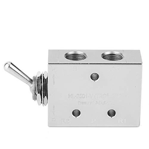 Interruptor de Palanca Interruptor de Palanca Interruptor de Palanca Interruptor de Perilla neumática mecánica de 2 Posiciones y 5 vías G1/8in 1,5~8 kgf/cm²