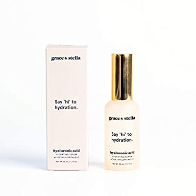 Hyaluronic Acid Serum 1.7 oz 100% for Face and Skin - Intense pure hydrating face serum to Reduce Dark Circles, Wrinkles & Sun Damage - Plumps skin with pure hyaluronic acid serums