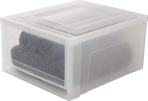 Iris Ohyama, Cassetto impilabile in plastica - Maxi Drawer MD-M - Bianco, 30 L, 45 x 39 x 22,7 cm