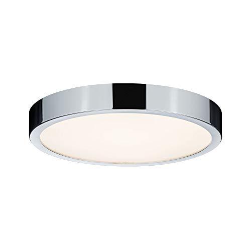 Paulmann 70882 Deckenleuchte LED Panel Aviar Deckenlampe flach Deckenlicht IP44 spritzwassergeschützt 20W Badezimmerlampe Chrom inklusive Leuchtmittel