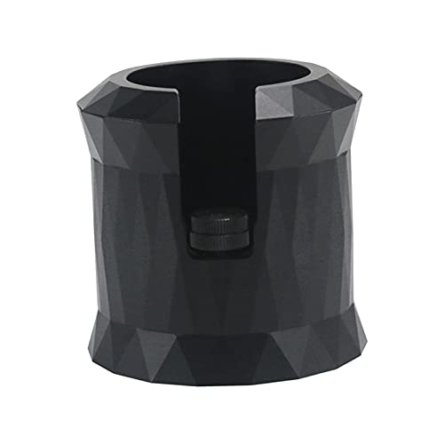 MagiDeal Soporte portafiltro Asiento de aleación de Aluminio anodizado Mango de café Estación de manipulación Apta para portafiltros de 51mm / 54mm / 58mm - Negro