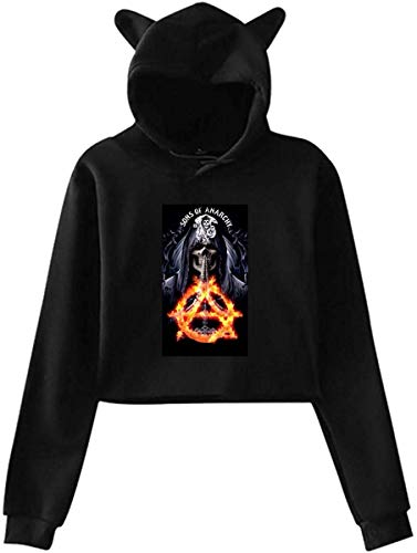 ASKSWF Hoodie Cat Ear Sweater Sons of Anarchy Pullover Jacket