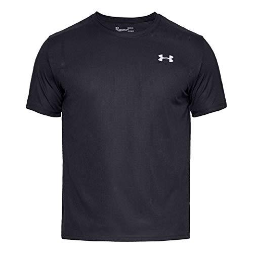 UNDER ARMOUR(アンダーアーマー)UAスピードストライド ショートスリーブクルー メンズ ランニングウェア Tシャツ 半袖 1326564 001BLK×BLK×RLT LG