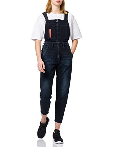 G-STAR RAW Womens Slim Denim Dungaree Jumpsuit, Worn in eve Destroyed 8971-C267, L