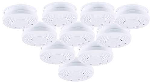 PEARL Rauchmelder VDs: Fotoelektrischer Rauchwarnmelder, VDs-Zertifiziert, 10er-Set (Rauchmelder mit 10 Jahres Batterie)