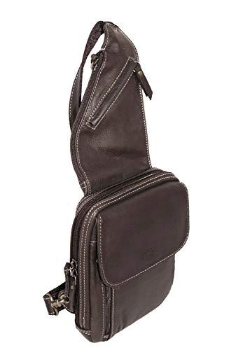Katana OFFRE EXCEPTIONNEL ! ENSEMBLE de 3 articles en cuir Sac monobretelle réf 81216 + sac gibecière 36106 + sac à dos 69510 (choco)