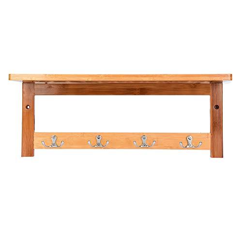 Living Room Furniture ZHANGYH- Toallero con Gancho, Muebles De Entrada Vintage Perchero De Bambú para El Hogar Perchero De Baño Cocina Estante De Almacenamiento Montado En La Pared Ahorra Espacio