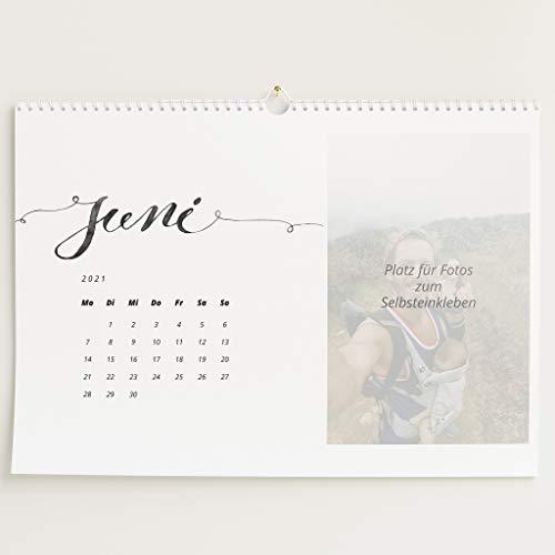 sendmoments Kalender zum Selbstgestalten 2021, Unsere Momente, Bastelkalender zum Einkleben Gedruckter Fotos, Spiralbindung, DIN A3 Querformat, optional mit Veredelung