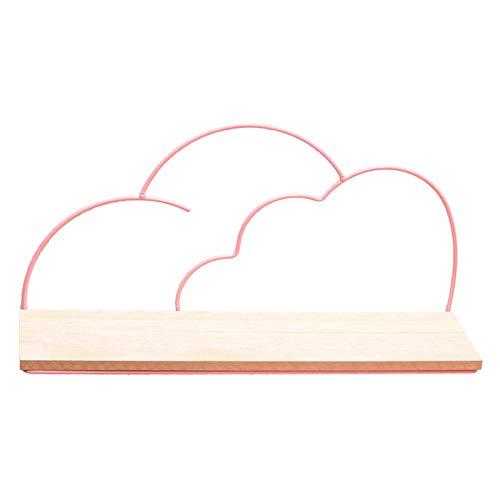 skwff wandplank Nordic ins smeedijzeren wolk rekken home office kamer muur decoraties roze