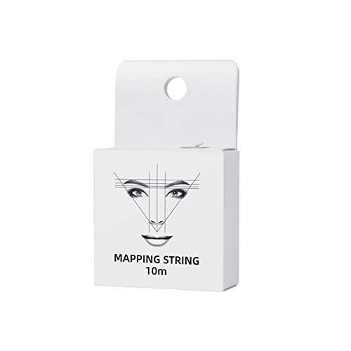 10m Tattoo-Faden vorgefärbter Augenbrauen-Mapping-String Augenbrauen-Mapping-String Tinte Brauen-Markierungsfaden Augenbrauen-Tattoo-Lineal-Zubehör Access